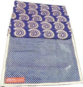 Ruhi's Creations Designer Brocade Saree Cover - Blue 7008