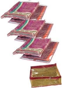 Srajanaa Hanging Saree Cover Wardrobe Organiser - Set Of 6 + Peticoat cover free SR-170