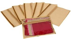 Kuber Industries Designer Single Packing Saree Cover Set of 6 Pcs (Jute Design) KUBS58