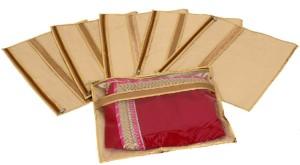 Kuber Industries Designer Single Packing Saree Cover Set of 6 Pcs (Jute Design) KUBS0058