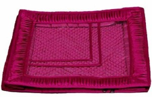 Kuber Industries Designer Saree Lahenga Cover in Heavy Quilted Satin (Pink) Wedding Gift MKU0015511