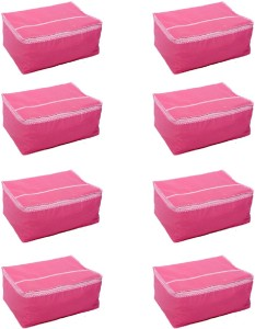 Kuber Industries Designer Saree Cover Set of 8 Pcs in Non Woven Material (Pink) SLT021