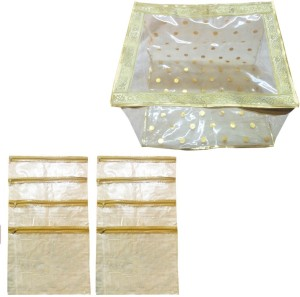 Angelfish Saree Cover Box 12 inch with 8 Loose Folders Inside AELKMB0788