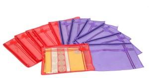 Kuber Industries Designer Non Wooven Single Saree Cover Set Of 12 Pcs (With Zip Lock) KUBS10