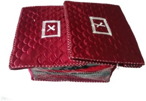 Ombags & More Handmade Quilted Saree Cover Set Of 3 ks006