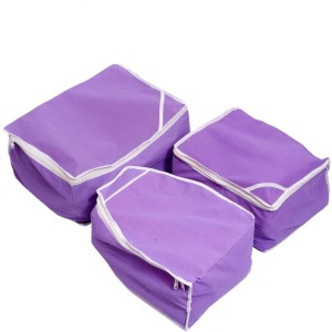 Kuber Industries Designer Kuber Industries Saree Cover, Blouse Cover, Peticot Cover Set of 3 Pcs (Non Woven) MKU00006694