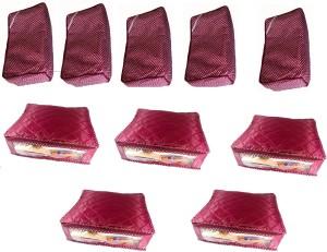 Fashion Bizz Designer Cotton and Satin Saree Cover 5 + 5 Combo 10