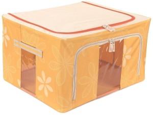 Kuber Industries Designer Saree Cover /Lehenga/Woolens Storage Box with Steel Frames - Flower SKU007605