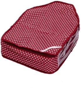 Kuber Industries Designer Kuber Industries Blouse Cover in Maroon Cotton Fabric MKU00006701