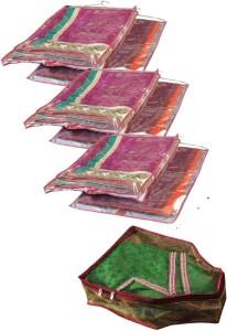 Srajanaa Hanging Saree Cover Wardrobe Organiser - Set Of 6 + Blouse cover free SR-152