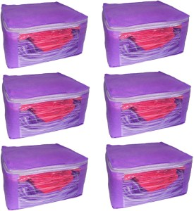 Addyz Front Transparent Saree Cover Pack of 6