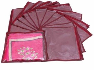 Addyz Plain Pack Of 12 Saree Cover Keep 1 each