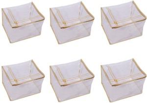Kuber Industries Designer Transparent Saree Cover (Extra Large Size) Set Of 6 Pcs SLT005