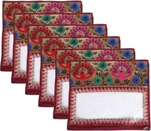 SuiDhaga Saree Packing Cover Navrang For Single Saree (6 pcs) SDSP019