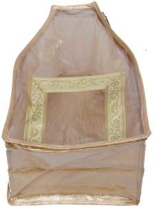 Kuber Industries Designer Blouse cover in designer golden brocade in extra lage size MKU5084