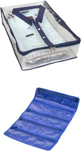 Kuber Industries Shirt Cover 2 pcs in transparent net Mku180