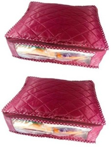 Addyz Plain pack of 2 Saree Covers Blouse Salwar Suit Shirt Jeans Case Storage Boxes