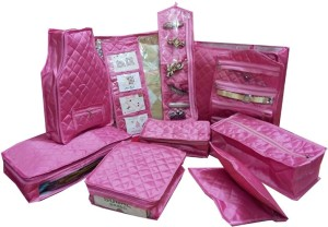 Addyz Plain Combo 11pcs marriage set utility cover's Garments storage bag