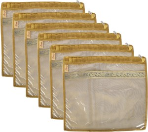 SuiDhaga Saree Packing Cover Tissu Frill For Single Saree (6 pcs) SDSP007