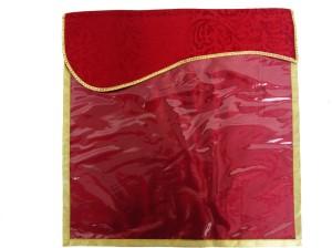 Wedding Pitara Designer Velvet Maroon Saree Cover