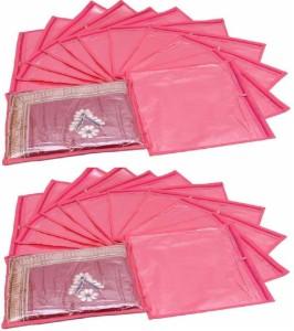Fashion Bizz Regular Pink Saree Cover 24 Pcs Combo