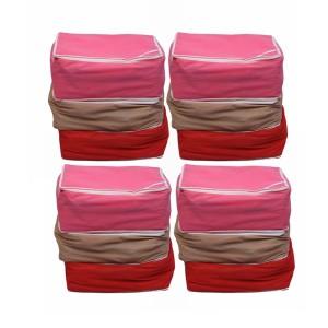 Ombags & More Handmade Saree Cover Combo Of 12 Myom02