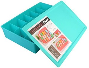 AND Retails Plastic 18-Cell Multi-Utility Storage Box with Lid, 360x240x80mm AND002402