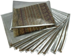 Ruhi's Creations 1 Saree Cover Silver - Set of 10 RH000101013