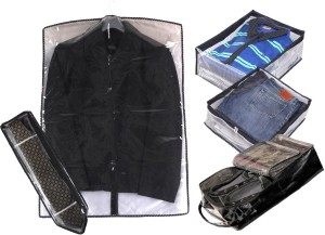 Srajanaa Combo of Shirt Trouser, Suit, Tie , Large Shoe Cover / Organiser SR-212