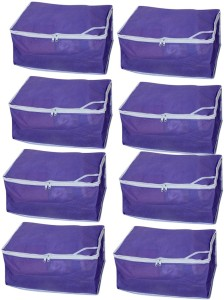 Ombags & More Designer saree cover combo of 8 Purple08