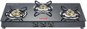 Prestige Marvel Plus 3 Burner Glass, Stainless Steel Manual Gas Stove