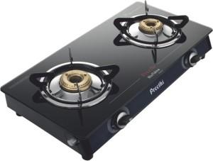 Preethi Blu Flame Smart Glass Manual Gas Stove 2 Burners Best Price