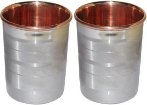 Dakshcraft Drinkware Accessories Handmade Copper Tumblers, Set of 2 Glass Set