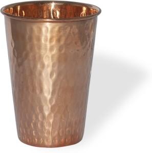 Prisha India Craft Tumbler Hammered AyurvedaHealing Glass