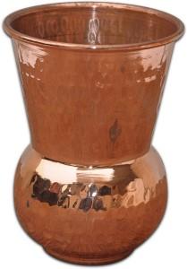 Prisha India Craft Pure Copper Muglai Matka Hammered Style Tumbler Glass