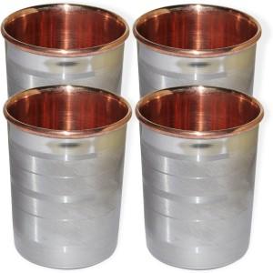 Dakshcraft Drinkware Accessories Handmade Copper Tumblers, Set of 4 Glass Set