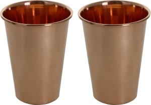 Prisha India Craft Pure Copper Tumblers Handmade Glass Set