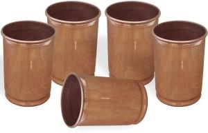 Dakshcraft Drinking Glasses Handmade Copper Tumblers, Set of 5 Glass Set