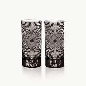 Hot Muggs Welcome to Reality - Kaliedoscope Shot Glass Glass Set