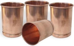 Dakshcraft Copper Glass Drinkware Asian Kitchen Accessory,Set of 4 Glasses Glass Set