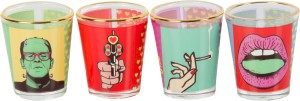Design Guns Love And Other Drugs Shot Glasses Glass
