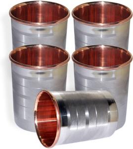 Dakshcraft Drinkware Accessories Handmade Copper Tumblers, Set of 5 Glass Set