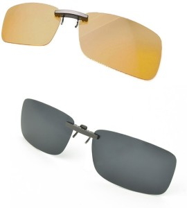 470b0cc9978 Enem Day   Night Vision Polarized Clip-on Flip-up Metal clip Driving  Sunglasses