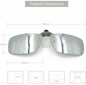 ded43d6132a Enem Day Vision Polarized Silver Clip on Flip up Driving Motorcycle Goggles  Silver Best Price in India