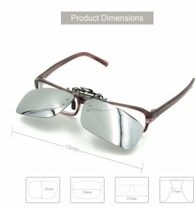bd7fb57f4f5 Enem Day Vision Polarized Silver Clip-on Flip-up Driving Motorcycle Goggles Silver