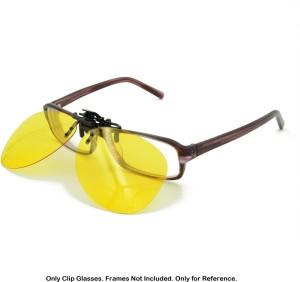 354bf3c14b3 Enem Night Vision Polarized Yellow Aviator Clip-on Flip-up Driving  Motorcycle GogglesYellow