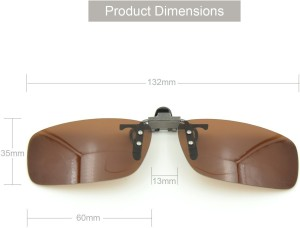 beb8f517cb2 Enem Day Vision Polarized Brown Clip-on Flip-up Driving Motorcycle Goggles Brown
