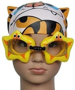 9bac1dbeb3 Intex Star Fish Design Fun For 3 8 Years Swimming Goggles Yellow ...