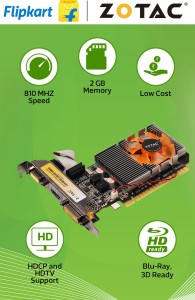 Zotac NVIDIA GeForce GT 610 Synergy Edition 2 GB DDR3 Graphics Card