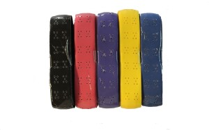 Billiedge Badminton/Tennis Cushion Grip (pack Of 5) Assorted Colour Extra Tacky  Grip